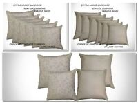 """LARGE BIG CUSHIONS SET OF 2 16"""" 17"""" 18"""" 20"""" 22"""" 24""""  WITH INNERS HIGH QUALITY"""