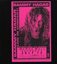 ORIGINAL VINTAGE Concert Handbill Sammy Hagar Mars Devos Hall 1997 MINT