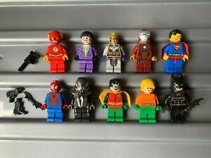 LEGO BULK LOT OF SUPER HERO FIGURES & ACCESSORIES , GENUINE MINIFIGS DC/MARVEL