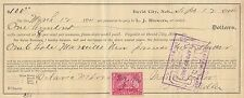 1900 L.J. Blowers Promissory Note David City Nebraska USA $100.00 Dollars Rare