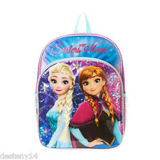 Disney Frozen Sisters Are Magic Backpack Elsa with Faux Hair Braid NWT