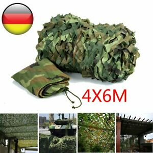 4x6m Camouflage Jagd Tarnnetz Armee Army Flecktarn Bundeswehr Tarnung Military