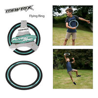 Mavrix Flying Ring Black Rubber Aero Throwing Frisbee Outdoor Family Fun Game