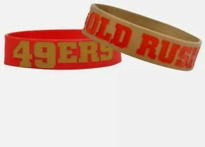 NFL San Francisco 49ers Bulk Bandz Bracelets Wristband 2-Pack - Lot of 2