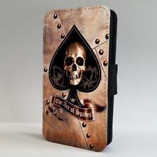Ace of Spades Funda para Estuche de Teléfono Abatible de cráneo IPHONE SAMSUNG