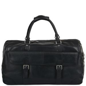 Ashwood Leather Travel Bag- Francis - Black