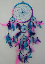 17 cm x 45 cm Pink Türkis Lila Dreamcatcher Traumfänger Indianer Träume Geschenk