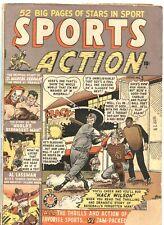 SPORTS ACTION #3-1950-JOE MANEELY SKELETON COVER-HACK WILSON-RARE
