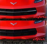 2014-2017 Chevrolet C7 Corvette LH /& RH Rear Bumper Reflector Blackout Kit