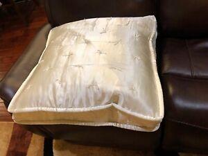 "Fino Lino Silk Euro Sham Charmeuse 26x26"" NWT Neutral Ivory Color Pillow"