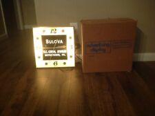 Vintage Lighted Bulova Jewelers Wall Clock Watch Boyertown Pa With Box