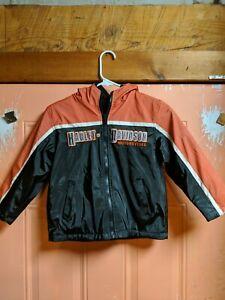 Harley Davidson Size 6 Reversible Kids Winter Jacket Coat