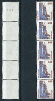 Bund 1811 R I 5er Streifen postfrisch SWK Rollenmarken Sehenswürdigkeiten Nr.065