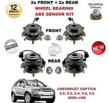 CHEVROLET CAPTIVA 2006> 2x delantero + 2x Trasero Rodamiento ABS Sensor Kit