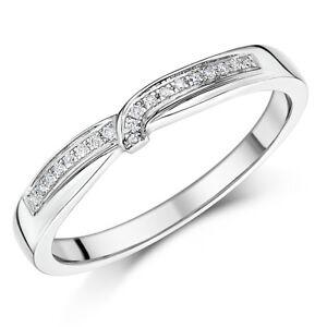 Palladium Diamond Ring Set Wrap Over 3mm Band