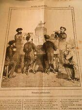 Caricature 1874 - Concert musique Harmonie parlementaire