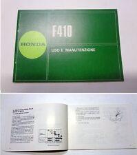 Manuale manual libretto uso manutenzione motozappa tiller HONDA F 410