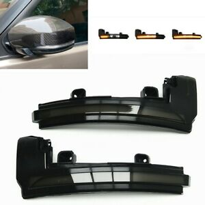 2x Dynamic LED Side Mirror Indicator Light For Land Rover Discovery 4 LR4 Evoque