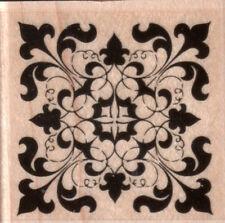 NEW STAMPABILITES RUBBER STAMP D1056 True Elegance Pattern tile square Free us s