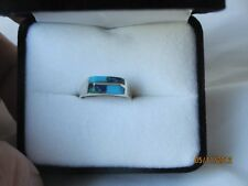 NIB .925 WOMEN'S STERLING SILVER AZURITE & TURQUOISE RING SIZE 6  (#143)