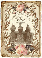 AsSoRTeD VinTaGe IMaGe FRenCh PaRiS PerFuMe LaBeLs ShaBby WaTerSLiDe DeCALs