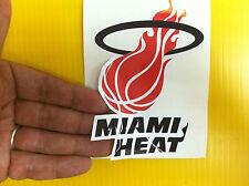 "BEST PRICE!! LOT OF 10 NBA DECAL / STICKER MIAMI HEAT  5"" X 3.5"""