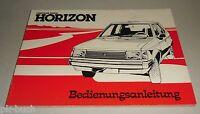 Mode D 'em Ploi Manuel Chrysler Simca Horizon Stand 06/1978