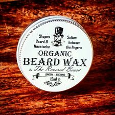 15ml Organic Moustache Wax by Revered Beard. Premium Quality Beard Styling wax