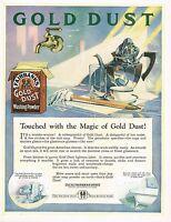 1920s BIG Vintage Fairbanks Gold Dust Powder Retro Kitchen Decor Art Print Ad