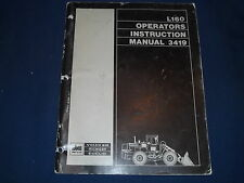 VOLVO BM EUCLID MICHIGAN L160 WHEEL LOADER OPERATION & MAINTENANCE BOOK MANUAL