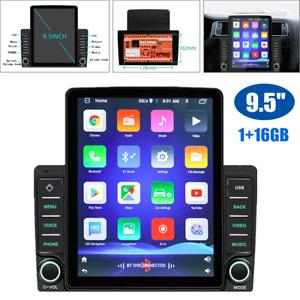 "9.5"" 2DIN Android 9.1 Wifi Car Head Unit 1GB+16GB Stereo Radio GPS Nav Quad-core"