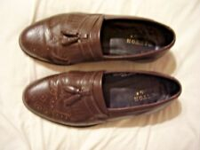 OAKTON CLASSICS MENS WINGTIP LOAFERS WITH TASSLES SIZE 10 D