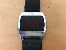 Used Vintage Steel Digital Watch with Strap NOT WORKING NO FUNCIONA For spare