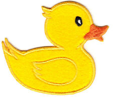 RUBBER DUCKY - IRON ON PATCH APPLIQUE- CHILDREN - BABIES - TOYS - DUCKS