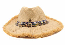 Tommy Bahama Womens Fringe Safari Sun Hat - NEW without tag (Natural, One Size)