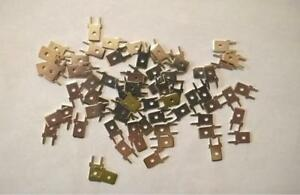 "ZMM509 Lot of 100 pcs  #1287 Quick Fit Terminal .250"" x .032"" Brass/Tin Plate"