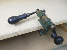 "Antique 12 Ga. Shot Shell Reloader With Brass Shot Shell ""No. 0 10"" Vintage Usa"