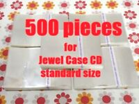 Resealable Outer Replacement Plastic Sleeves for CD Jewel Cases 500 pieces