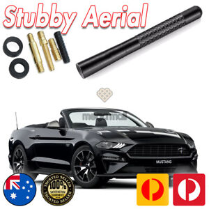 Antenna / Aerial Stubby Bee Sting for Ford Mustang Black Carbon 12CM