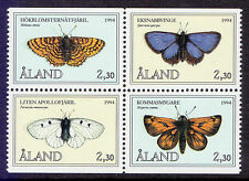 Mint Never Hinged/MNH Butterflies Alandic Stamps