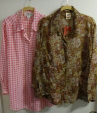Ladies Blouses Lot of 2 Size XL / 18W 20W SAKS 5th Avenue and Old Glory NWT Tops