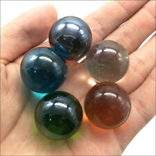 Lot 5pcs 22mm 25mm Mix Colors Glass Beads Marbles Kid Toy Fish Tank Decorate
