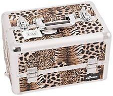 Craft Accents Professional Aluminum Cosmetic Makeup 128 oz Brown Leopard Case