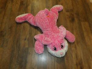 "Large 24"" Dan Dee Collectors Plush PINK Bunny Rabbit w/ Carrot Floppy Pillow"