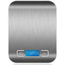 NEW Digital LCD Kitchen Food Weighing Scales Stainless Steel Up to 5000g UK