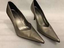 Predictions Pewter Heels Size 7 Stilettos High Pumps Pointed Toe