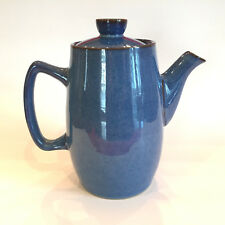 DENBY ENGLAND ENGLISH SOLID DARK BLUE SPECKLED COFFEE POT SERVER~FREE SHIP brown