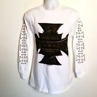 Choppers Forever Men's T-Shirt Size M / L Motorcycle Biker Long Sleeve White NEW