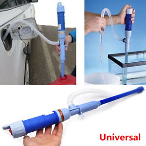 Car Diesel Fuel Solvent Water Gas Electric Battery Transfer Siphon Powered Pump