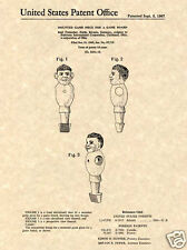 Classic FOOSBALL MEN US PATENT Art Print READY TO FRAME!! 1967 man table tornado